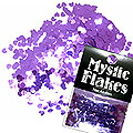 MysticFlakes メタリックダークパープル ミニハート 0.5g