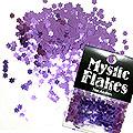 MysticFlakes メタリックダークパープル フラワー 0.5g