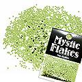 MysticFlakes メタリックLtグリーン サークル 1mm 0.5g
