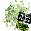 MysticFlakes メタリックLtグリーン ハート 0.5g