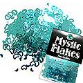 MysticFlakes メタリックエメラルドグリーン ハート&ムーン 0.5g