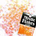MysticFlakes パールオレンジ ミニハート 0.5g