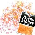 MysticFlakes パールオレンジ ハート&ムーン 0.5g