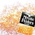 MysticFlakes パールオレンジ ヘキサゴン 1mm 0.5g
