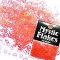 MysticFlakes パールレッド ハート&ムーン 0.5g