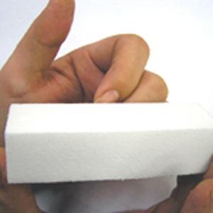 5個特価・ホワイトブロック 25x25x95mm
