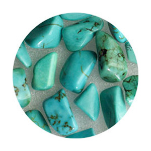 SHAREYDVA ネイルパーツ 天然石 ターコイズ 20P