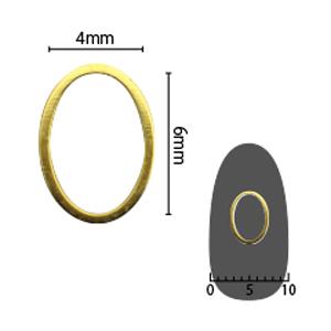 SHAREYDVA ソフト オーバル 4×6mm ゴールド 太(中抜き) 6P