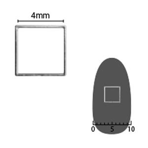 SHAREYDVA ソフト スクエア 4mm シルバー 細(中抜き) 8P