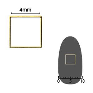 SHAREYDVA ソフト スクエア 4mm ゴールド 細(中抜き) 8P