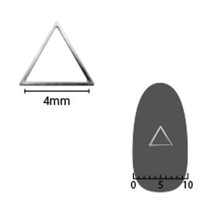 SHAREYDVA ソフト 三角 4mm シルバー 細(中抜き) 8P