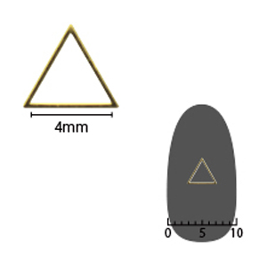 SHAREYDVA ソフト 三角 4mm ゴールド 細(中抜き) 8P