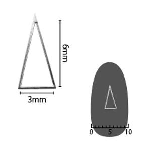 SHAREYDVA ソフト 三角 3×6mm シルバー 細(中抜き) 8P