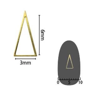 SHAREYDVA ソフト 三角 3×6mm ゴールド 細(中抜き) 8P