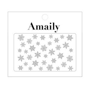Amaily ネイルシール NO.3-22 雪の結晶 シルバー