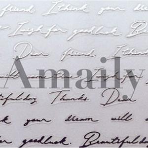 Amaily ネイルシール NO.2-19 レター シルバー