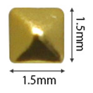 SHAREYDVA スタッズ メタルスクエア 1.5mm ゴールド 50P