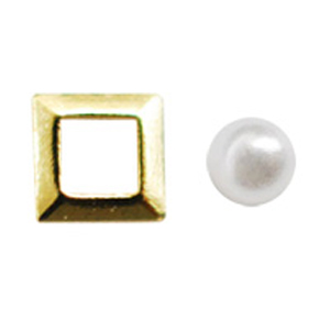 Jewelry-Nail LittlePretty LP-AST-0001 3Dスタッズスクエア2スカシ アソート ゴールド
