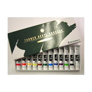 ターナー アクリルガッシュ 普通色 12色セット (各11mL)