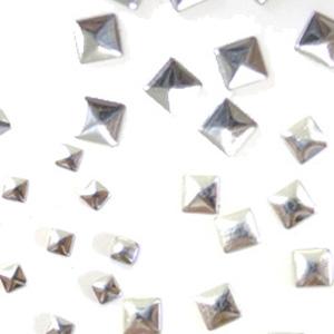 MysticFlakes メタルスタッズ スクエア アソート シルバー 30P