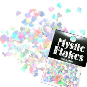 MysticFlakes ホロシルバー ハート 0.5g