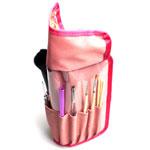 リバティプリント ブラシケース ピンク