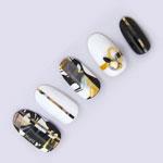 TSUMEKIRA tatiプロデュース2 NN-TAT-205 Marble tape1 イエロー 2mm