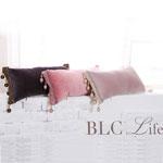 BLC Life ビーズタッセルクッション フラミンゴ