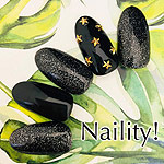 Naility! ジェルネイルカラー 001 ラメシャインブラック 4g