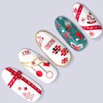 TSUMEKIRA ネイルシール クリスマスオーナメント レッド SG-CRS-603(ジェル専用)