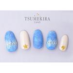 TSUMEKIRA rrieen & eacutee × filer プロデュース1 オーガンジーフラワー ホワイト NN-RXF-101